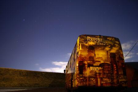 夜間の撮影 星空を背景にお気に入り撮影